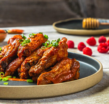 BC Raspberry Chipotle Wings