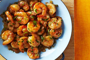 Cilantro-Shrimp-for-Two with raspberry sauce