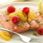 Citrus Salmon Fillets with BC Raspberry Salsa