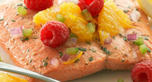 Citrus Salmon Fillets w Raspberry Salsa