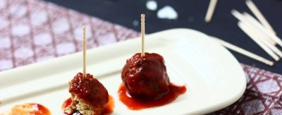 Raspberry Chipotle Turkey Meatballs