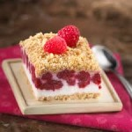 Layered Fresh BC Raspberry Icebox Pie