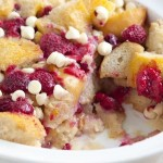 BC Raspberry and White Chocolate Bread Pudding