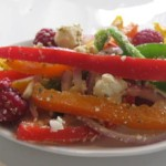 BC Raspberry Marinated Chicken in Summer Pepper Salad