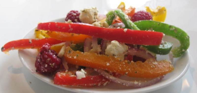 BC Raspberry and Feta in Summer Pepper Salad