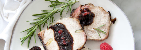 Pork Loin with Raspberry Glaze